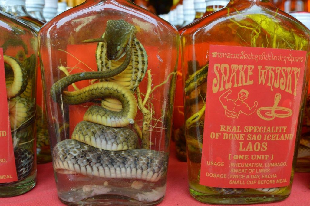 Laos Snake Whiskey