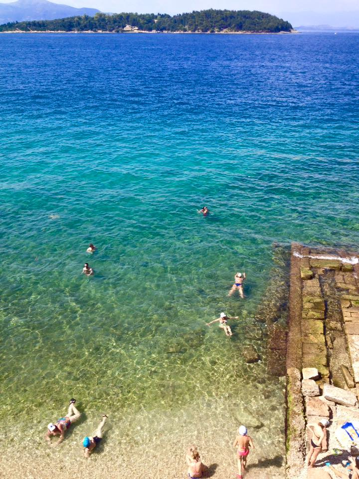 Public Beach in Corfu Town