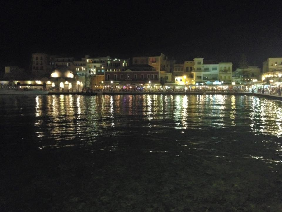 Chania from the Venetian Harbor by night
