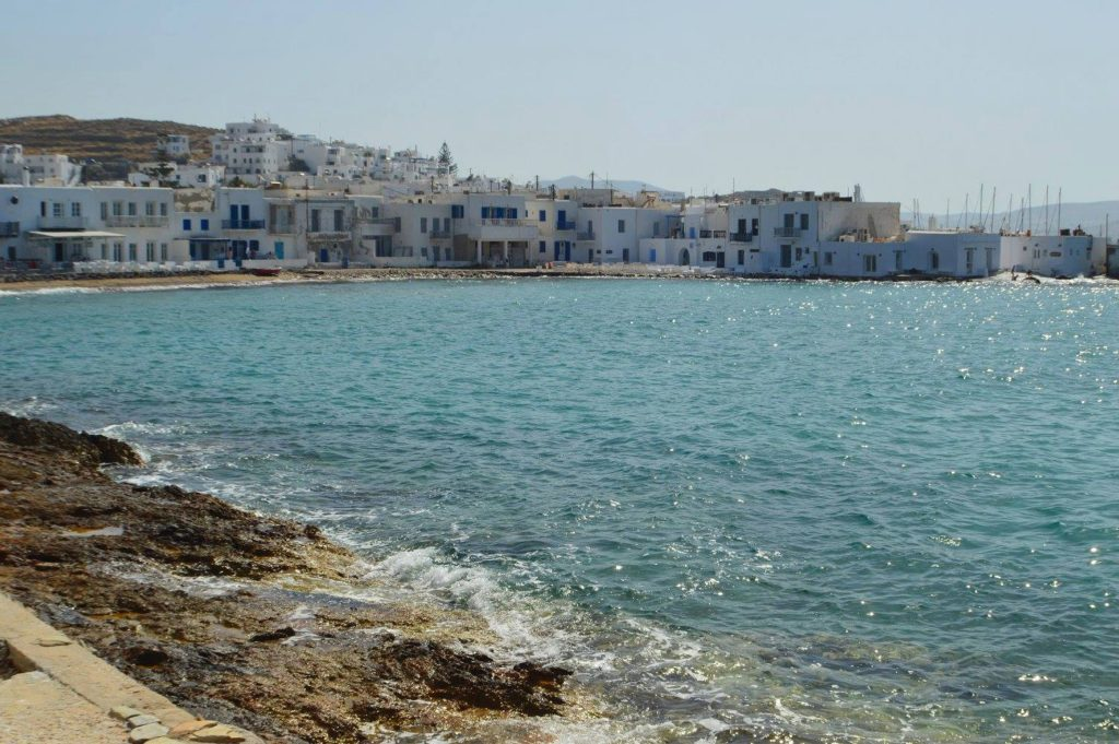 Beautiful cove in Noussa, Paros