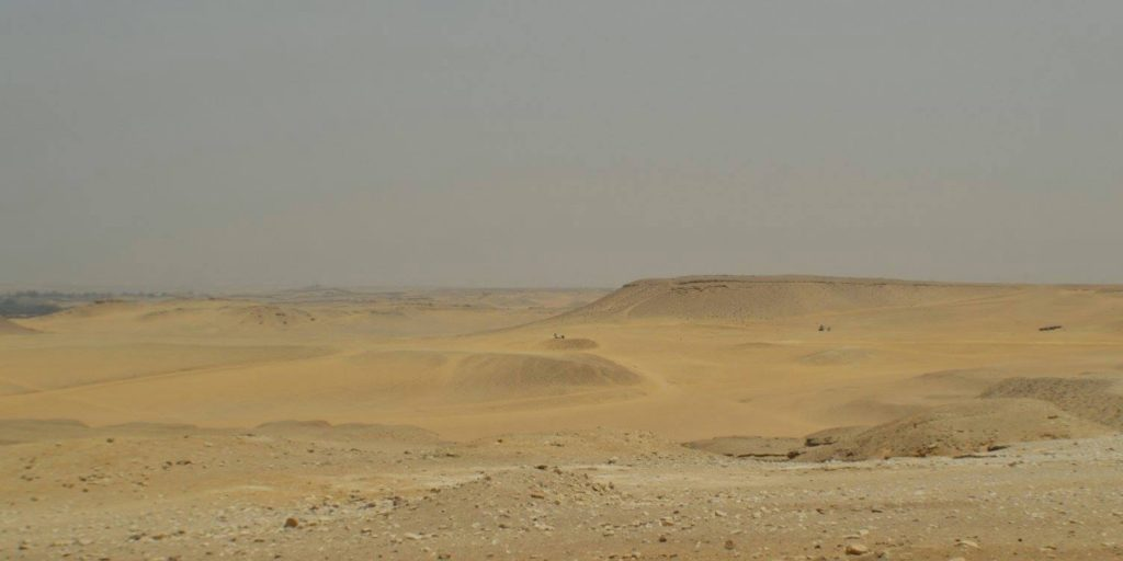 Beginning of the Sahara Desert