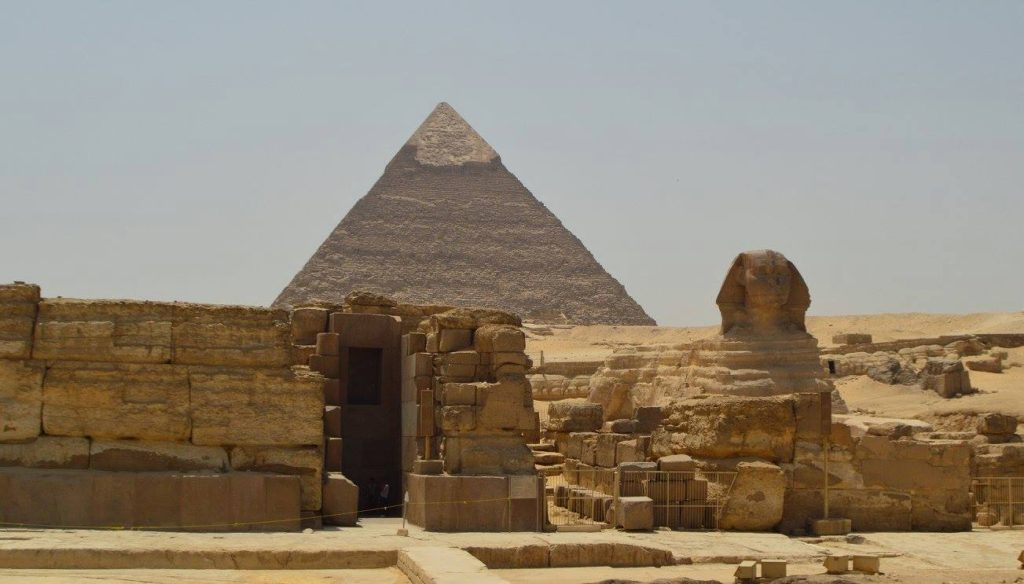 The heart of Giza...Pyramid, Sphinx, and tomb
